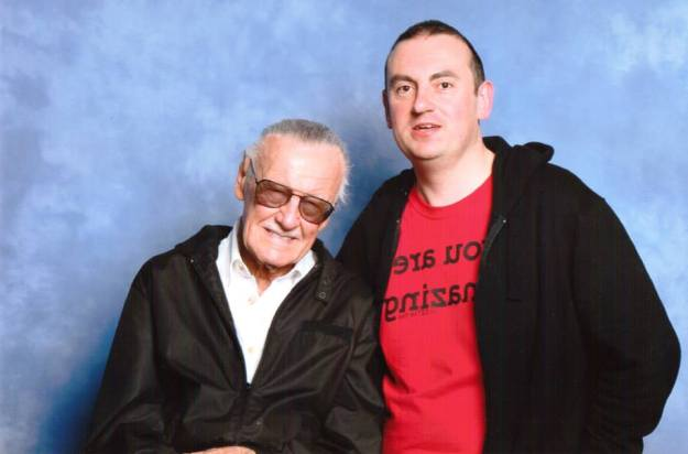 Michael with Stan Lee at London Film and Comic Convention, July 2014